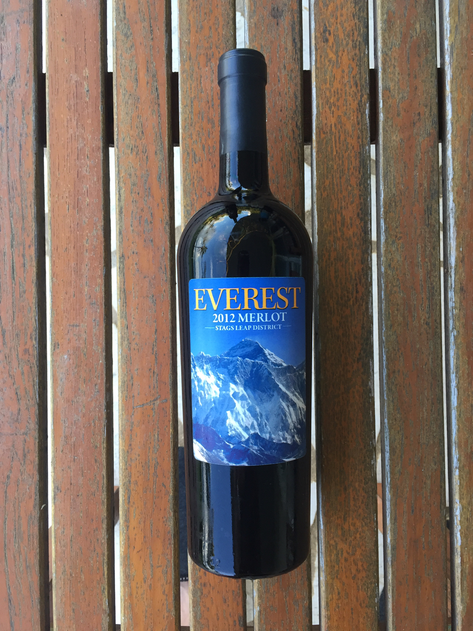 - Our 2012 cab and merlot with a label inspired by Mount Everest.