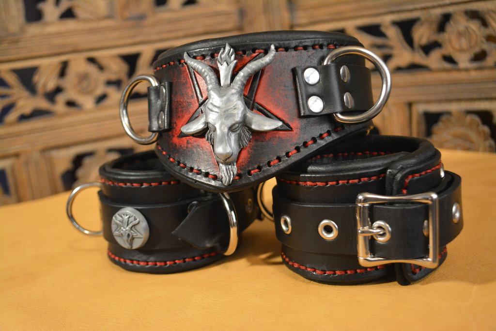Baphomet Collar & Cuffs