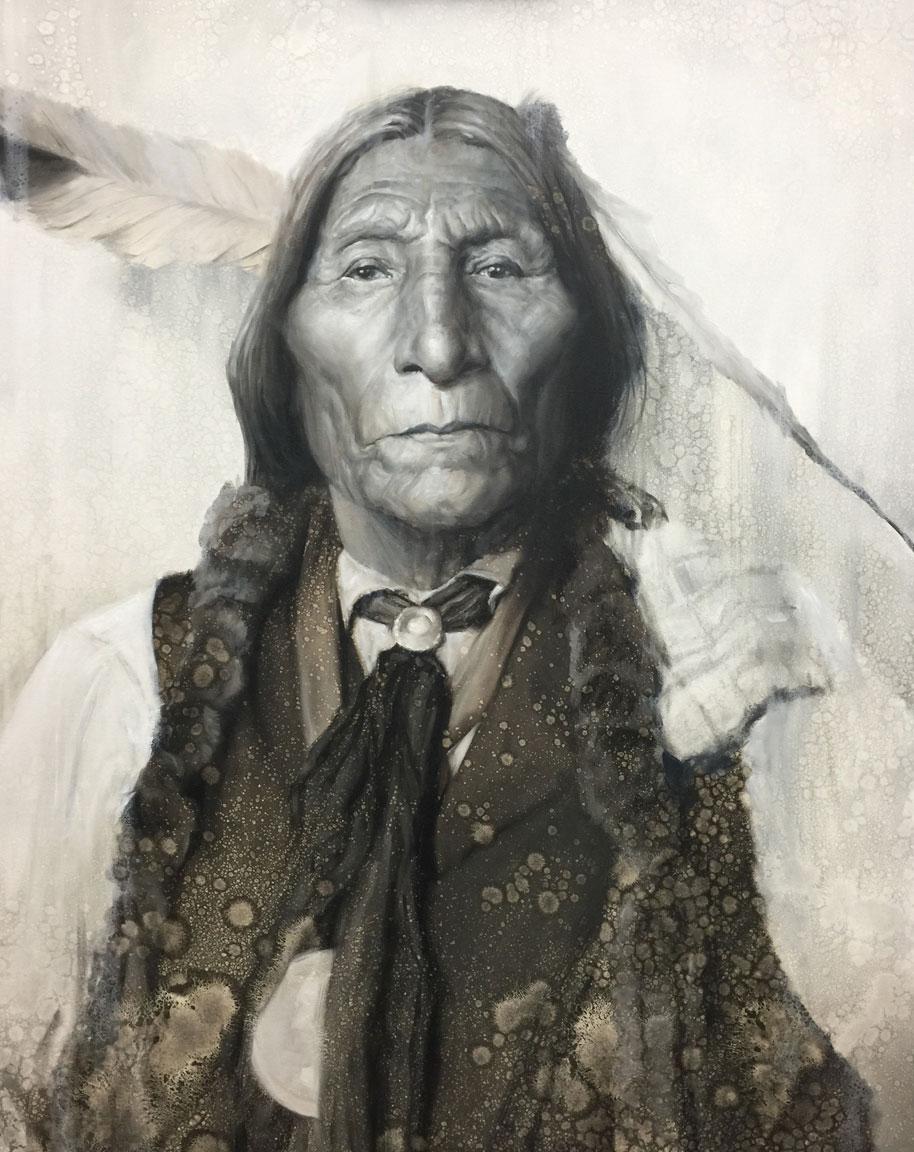 The Medicine Man (Chief Wolf Robe)