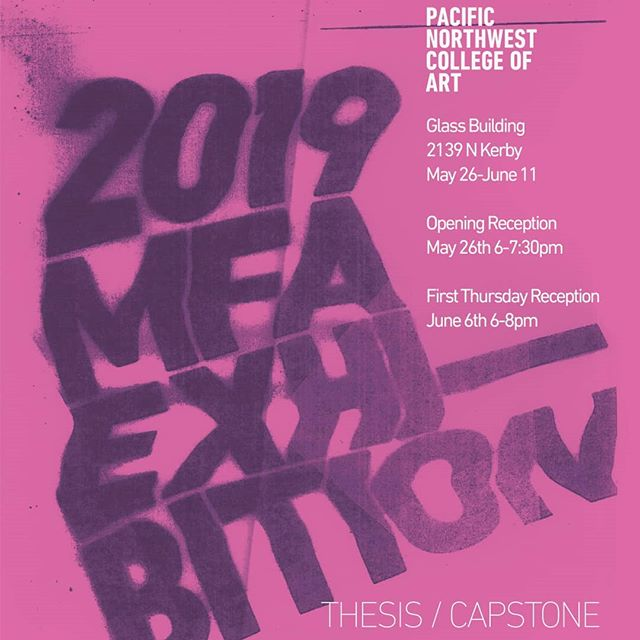I want to invite all of you to our capstone exhibition! 26 amazing artists and designers will be showing off their MFA thesis projects.  For those of you who have been following along, you know that I have poured many, many hours and love into this project. You've been getting peeks of what I've been up to, and now you (and I!) Will finally be able to see my installation fully realized. Come, celebrate, and take a walk through the walls of my installation.  And if you can't make it to one of the opening nights, but want to see my work up, the show goes through June 11th, and I'll be happy to meet up with anyone and share my artwork with you. I'll also be giving my oral defense on Monday, May 20th at 9:30am. Hope to see you all there! -  www.laurengoding.com -  #mfa #mfaprintmedia #printmedia #gradschool #graduateschool #pnca #printmaking #textiles #fabric #visualstudies #mfainvisualstudies #mfacd #collaborativedesign #installationart #pdxartist #portlandartist #contemporaryart #exhibition #thesis #capstone #groupshow #seeyouthere #classof2019 #almostthere #installstartsthe10th #somuchlefttodo #veryexcited