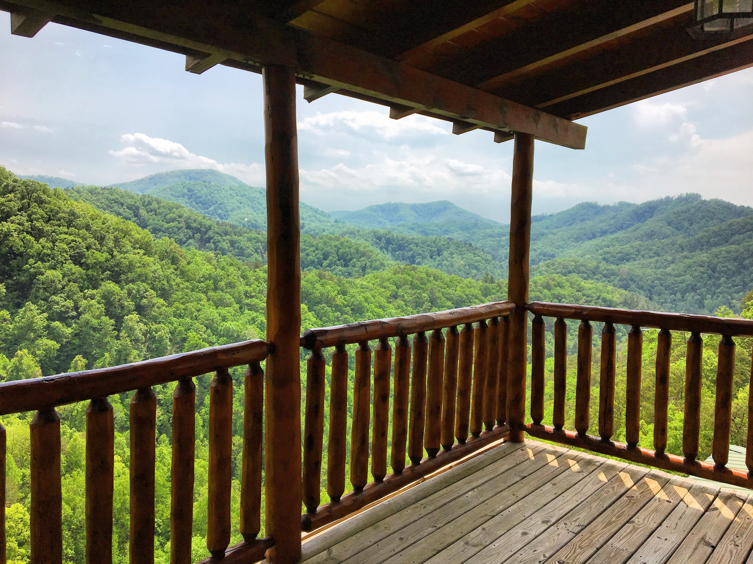 Unbeatable view from a Tennessee AirBNB
