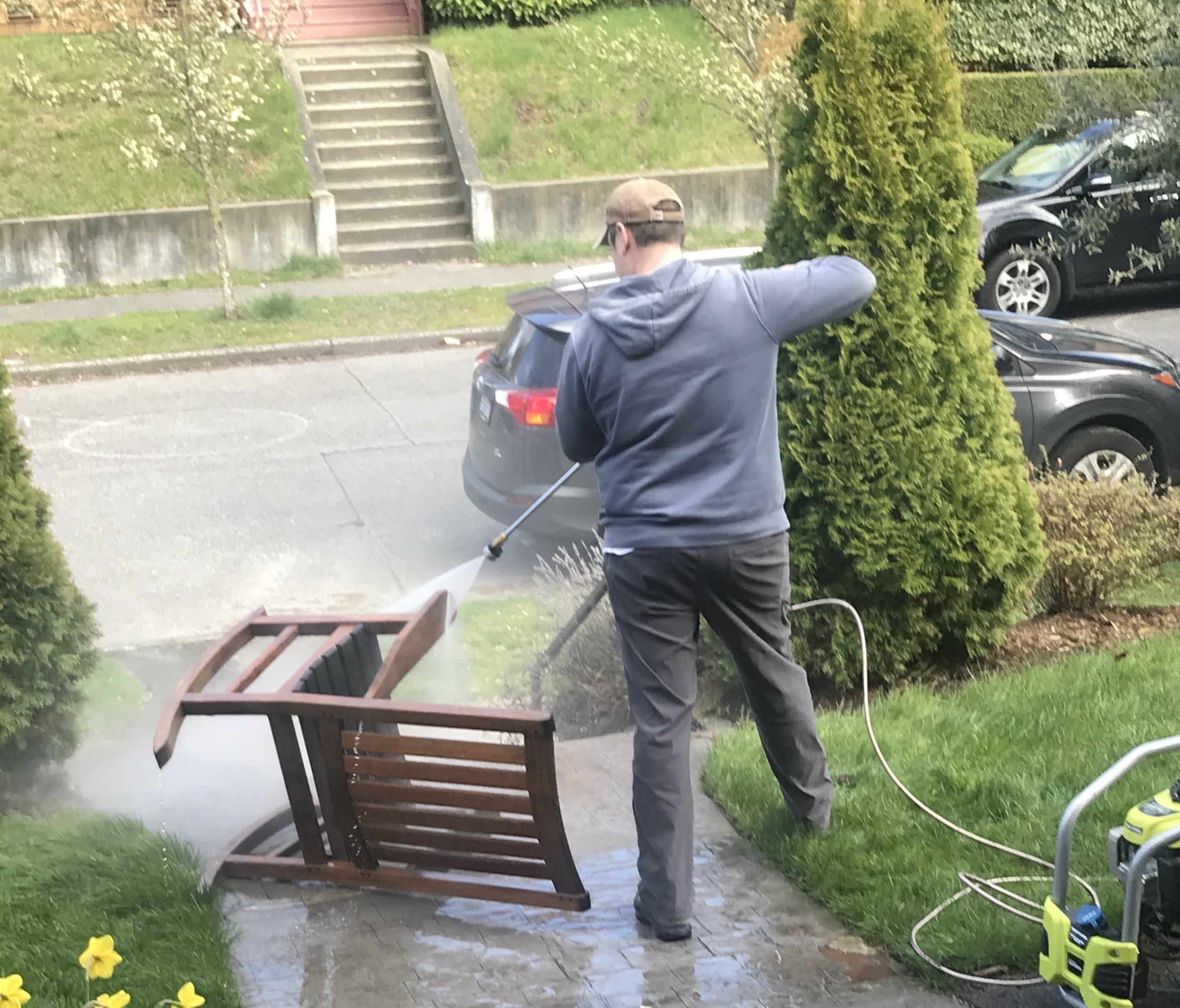 You'd be amazed how many uses we find for our power washer!