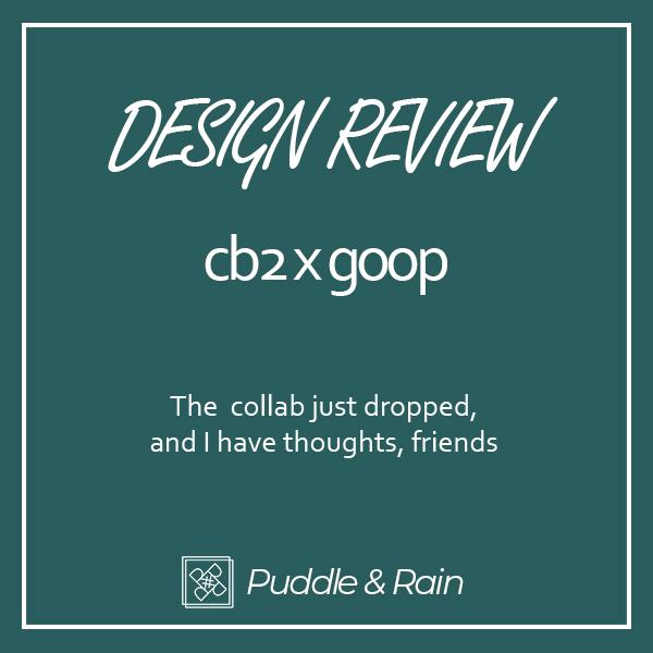 Rebecca Rowland Interiors Puddle and Rain Reviews cb2 x goop