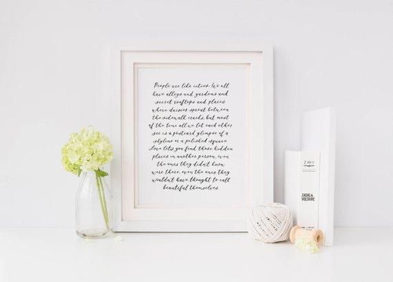 SABLEWOOD PAPER COMPANY:  Hand-lettered poem