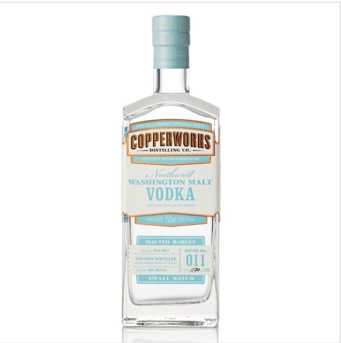 COPPERWORKS DISTILLING:  Vodka