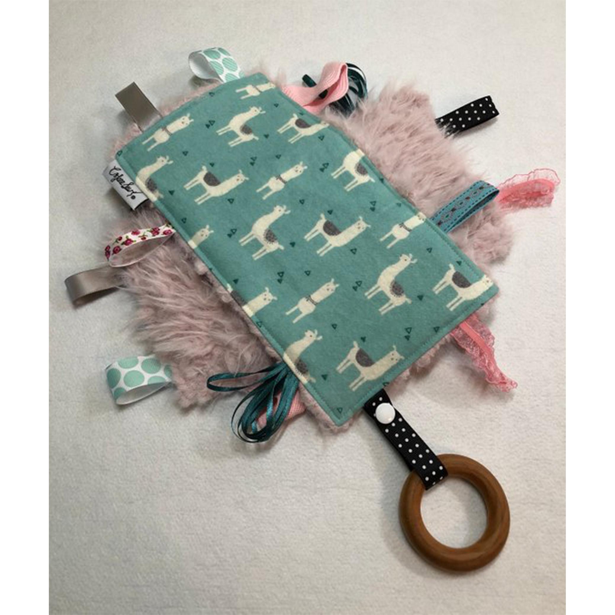 SEE JANE C JANE SEW:  Sensory tag toy
