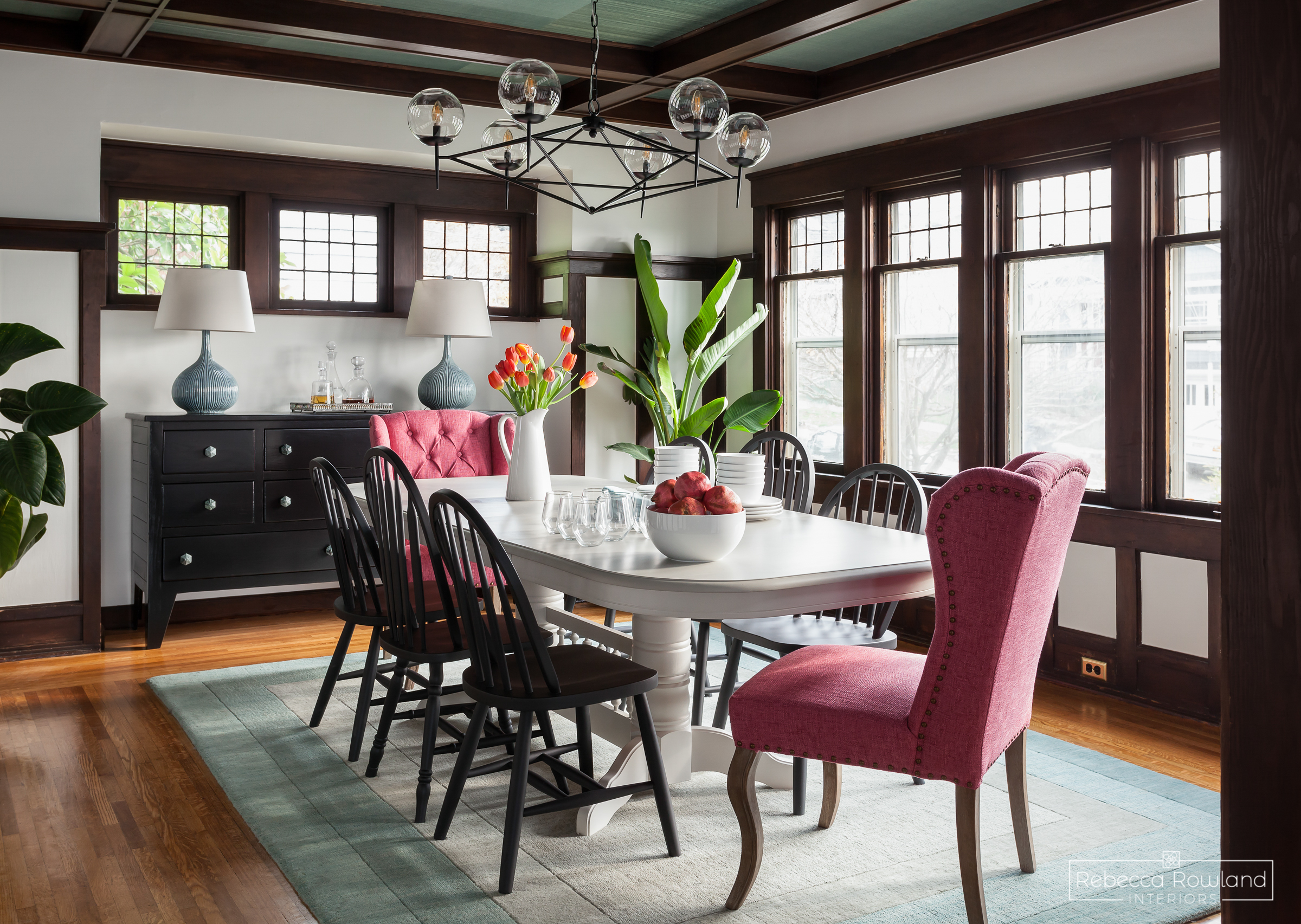 The Reveal: A Dining Room Gets Refinished Floors and a Whole Lot More. Design: Rebecca Rowland Interiors. Photograph: Julie Mannel