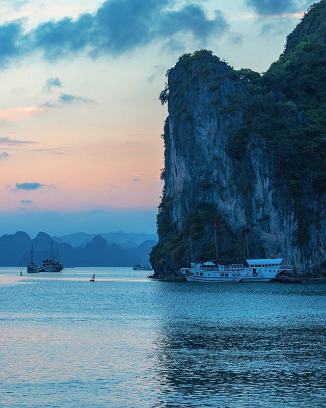 Karsts for days in Vietnam ... If Halong Bay proper is too crowded for your taste (it is for ours) we highly recommend visiting the stunning Bai Tu Long Bay. Spend at least one night sleeping on a traditional junk boat. ⁣ Bai Tu Long Bay occupies three quarters of Halong Bay World Heritage site, as well as many islands in Van Don, Cam Pha District.⁣ We decided to go on a private tour of the bay with @indochinajunk ⁣ If you plan on staying in Hanoi our favorite hotel is the @metropolehanoi It's an award-winning French colonial classic! ⁣ ⁣ Follow us @optionescape for more travel tips. ⁣ Please feel free to ask us any questions about our experiences abroad.