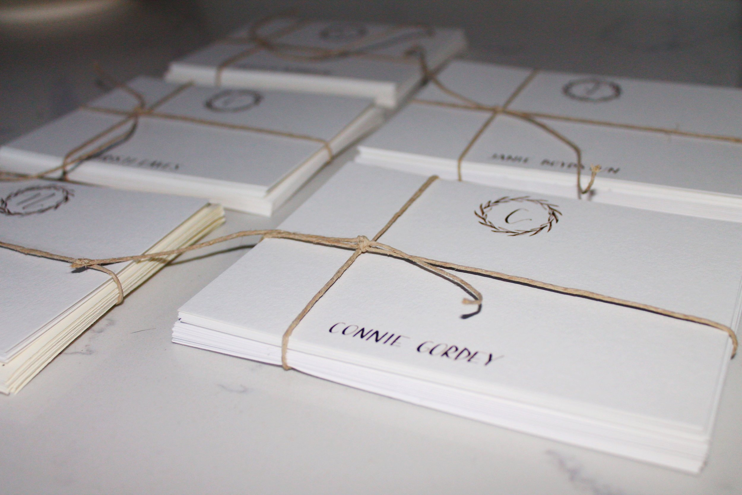 correspondence cards with envelopes