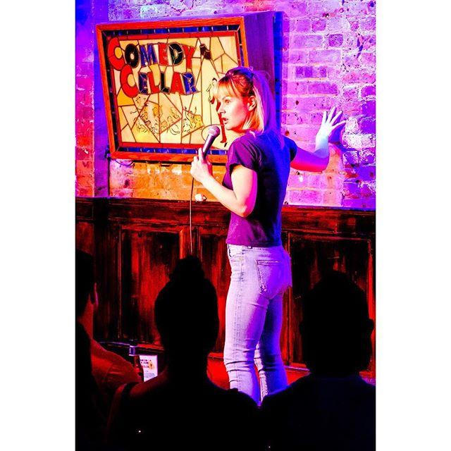 #tbt @rosebudbaker at #SURROUNDED3 #smallworldcomedy  #comedycellar 📷: @humanplac3s