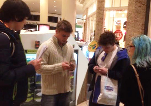 Guerilla usability testing in the mall