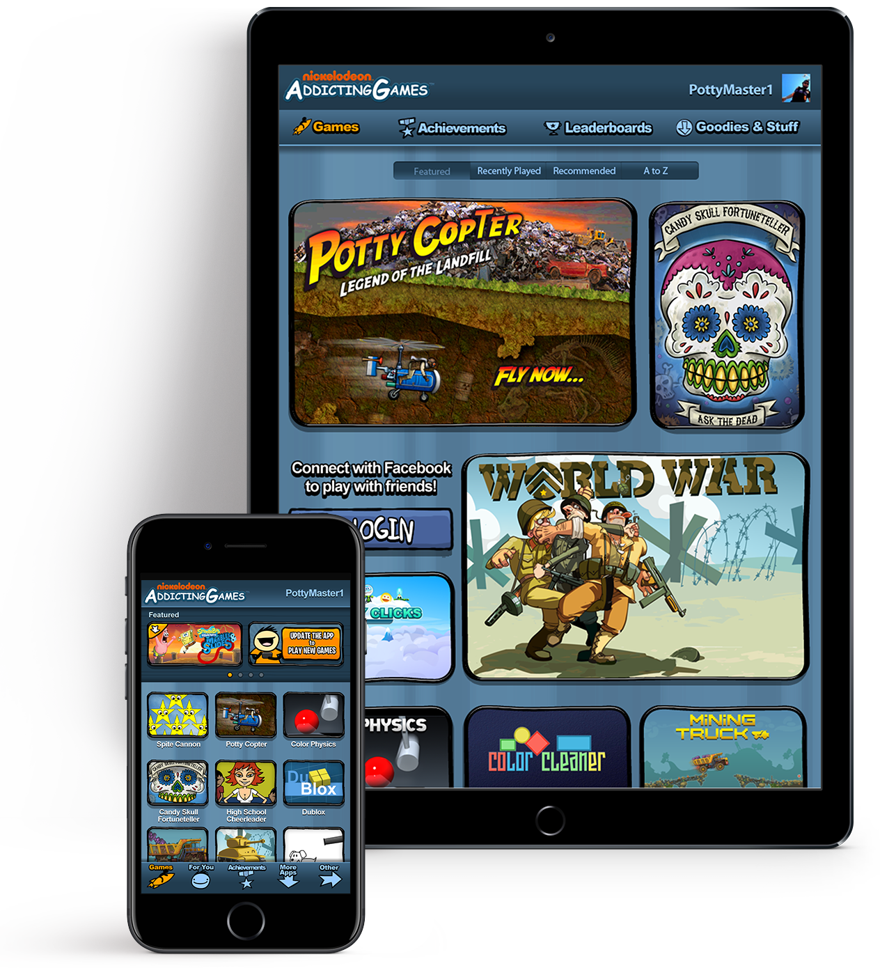 AddictingGames tablet and mobile app
