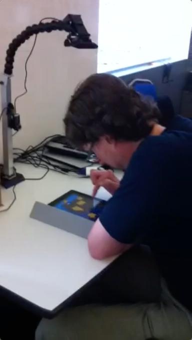 Tablet testing participant calibration