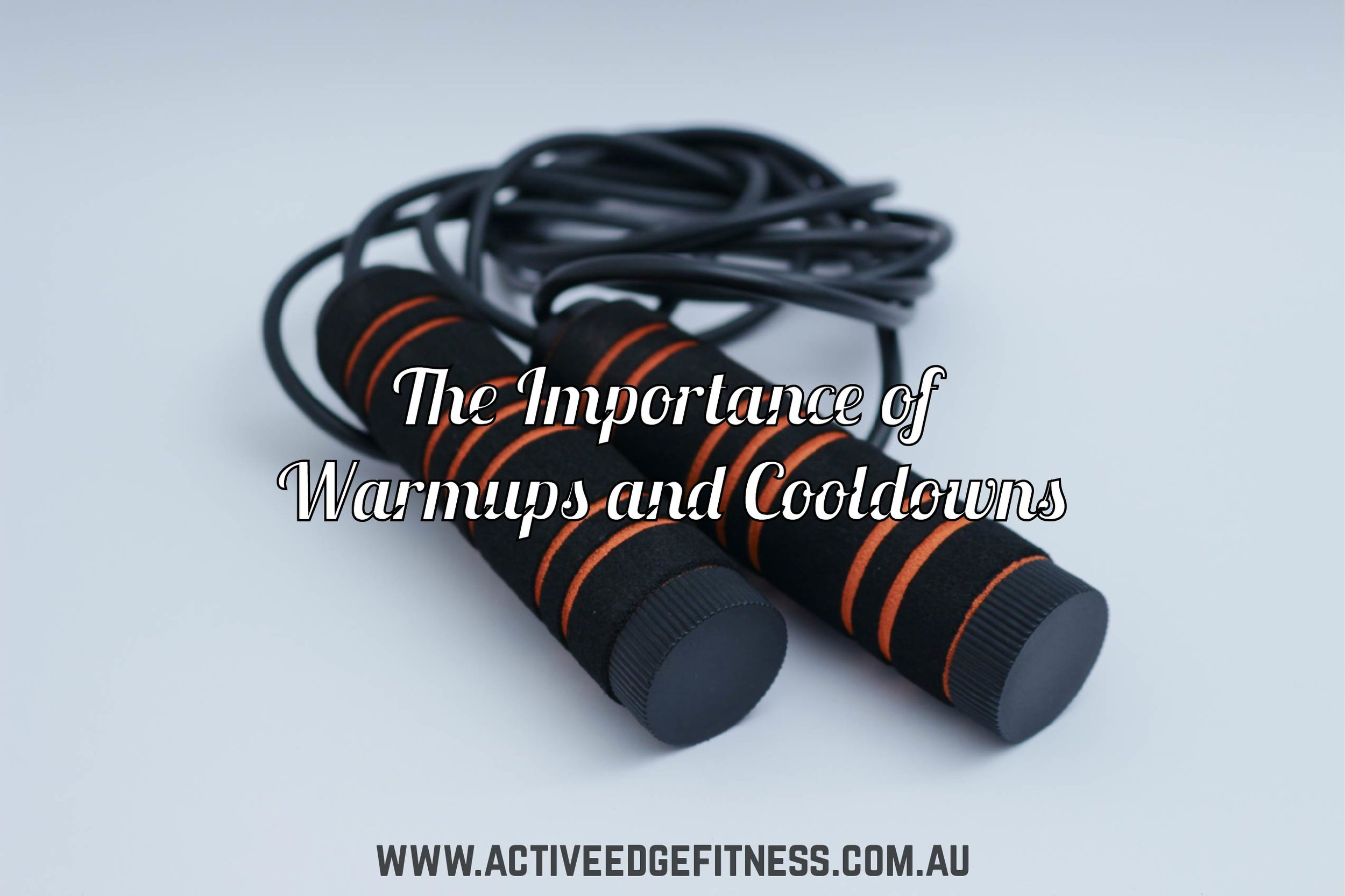 """skipping rope with caption """"The Importance of Warmups and Cooldowns"""""""