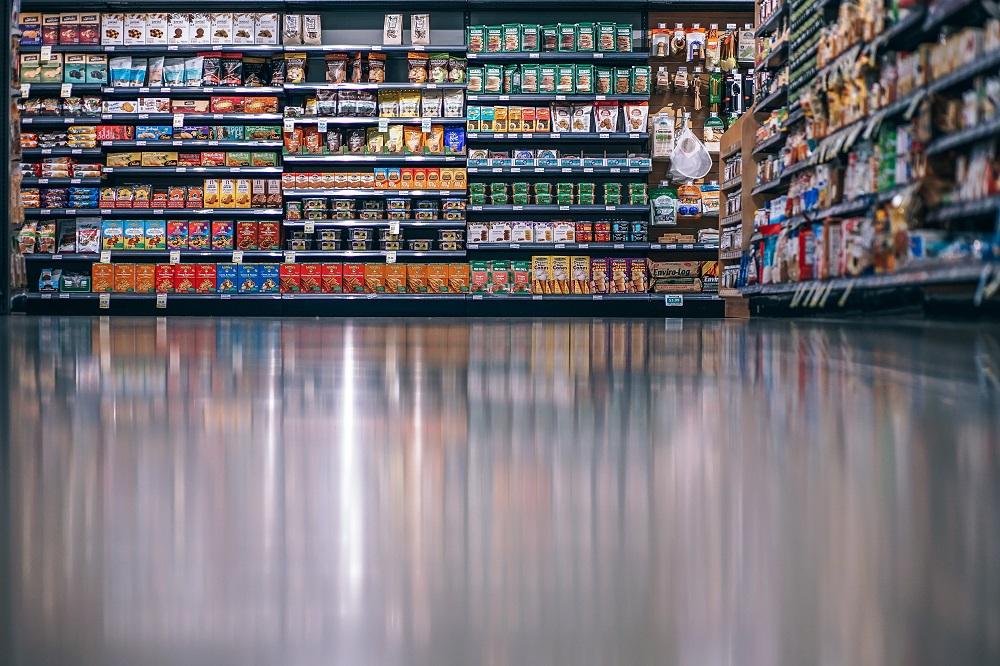 Processed Foods in Supermarket