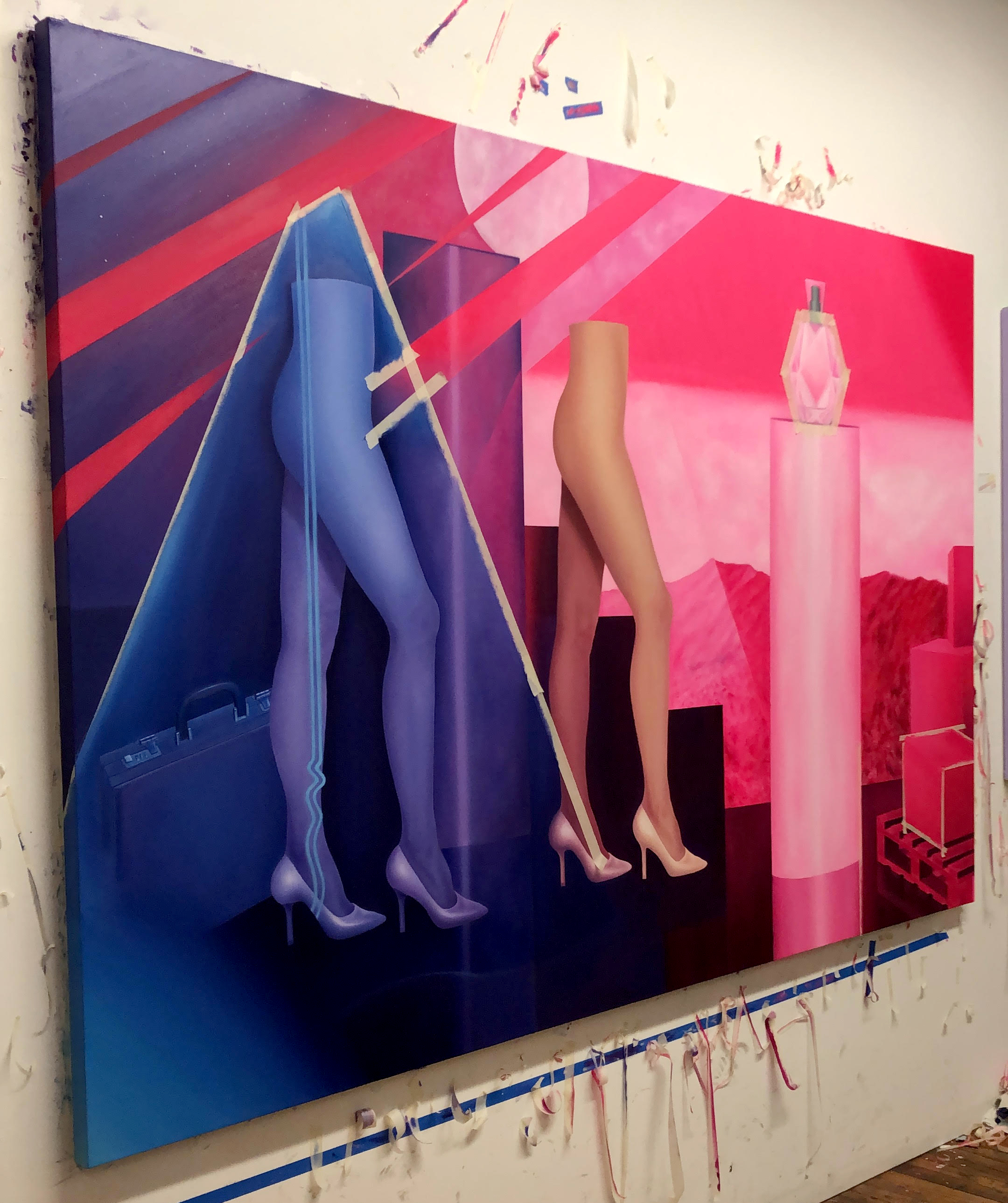 Mirage(In Progress) - 63 x 96 in. Oil on Stretched Canvas, 2018–2019Artspace Write-Up