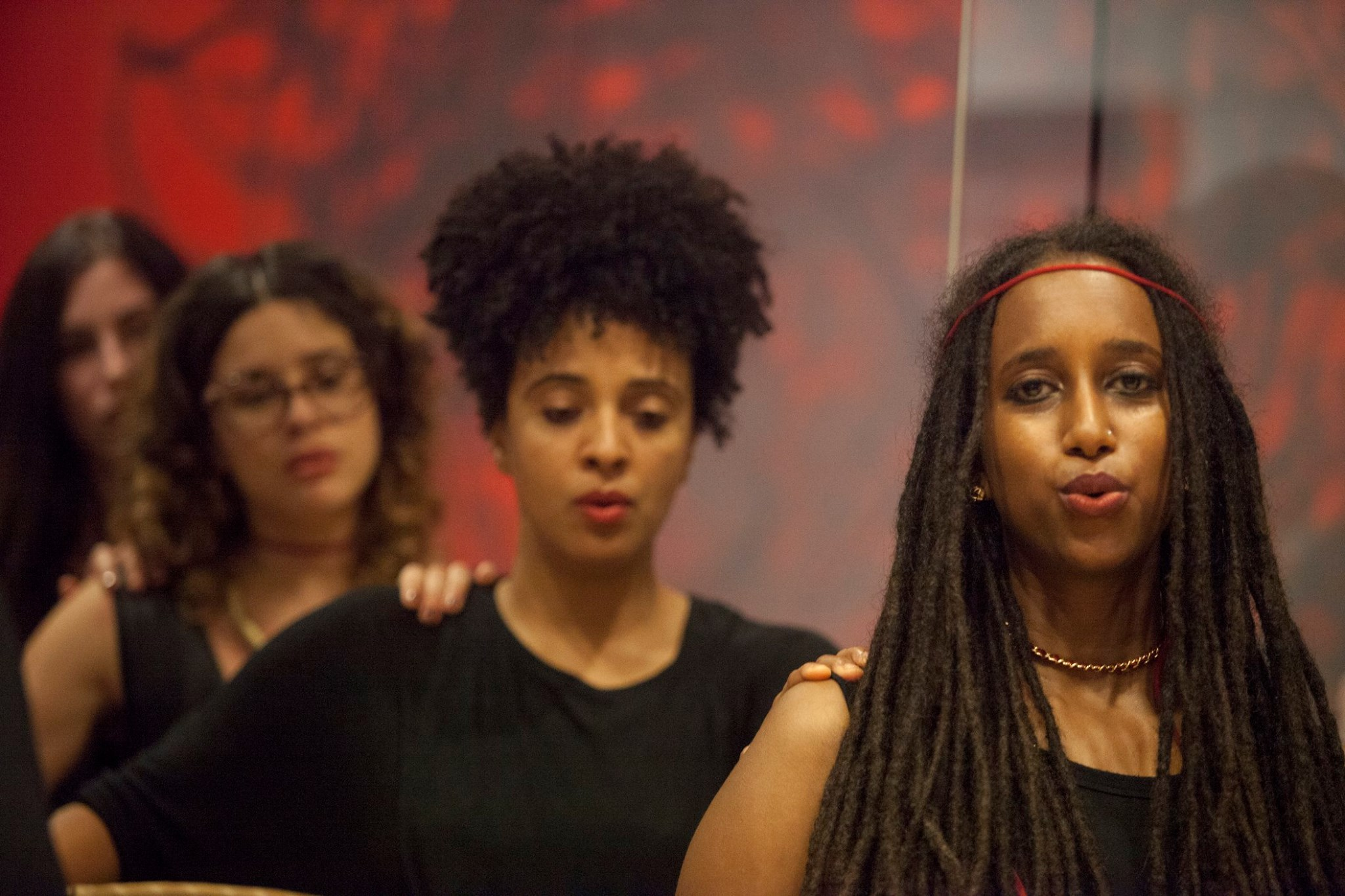 Zena premiers new music at Museum of the African Diaspora with performance artist Helina Metafaria… -