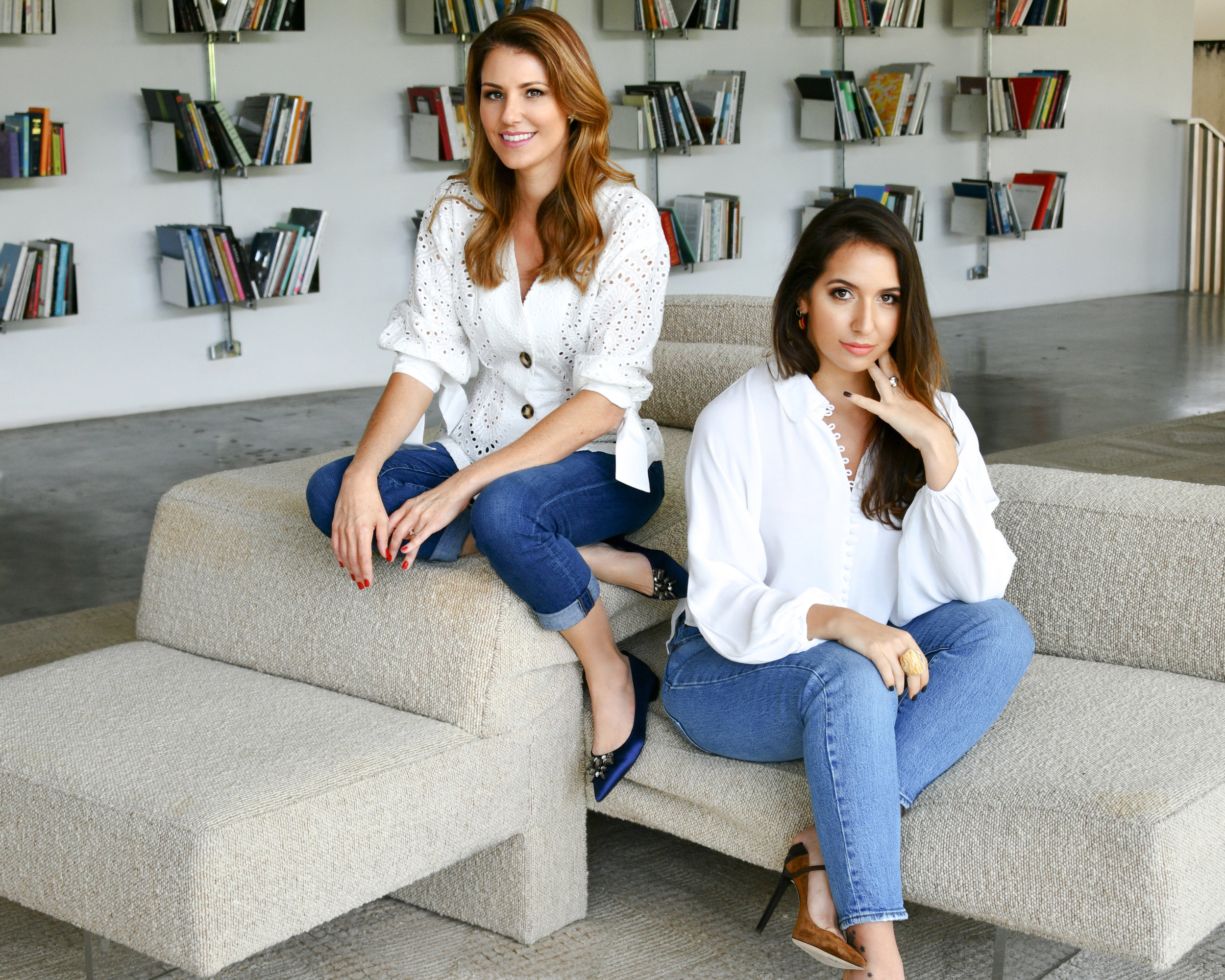 Founder of  Stitch Lab , Karina Rosendo (left), and  Stitch Lab 's fashion director, Camila Straschnoy (right).