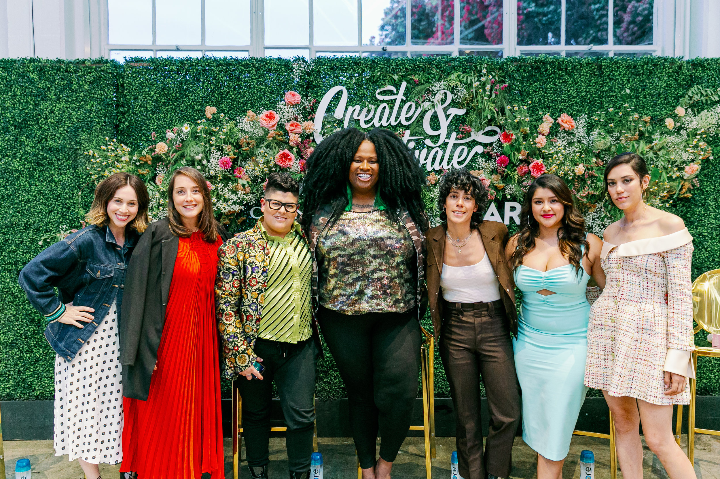 Create & Cultivate's Summer Traveling Speaker Series featuring Founder and CEO of Create & Cultivate Jaclyn Johnson; Chandon's Pauline Lhote, VIDA's Ser Anzoategui, Civil Rights activist and #ThriveOver35 creator Ashlee Marie Preston, VIDA's Roberta Colindrez, Chelsea Rendon, and Mishel Prada.