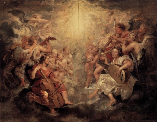 Peter Paul Rubens. Music Making Angels. 1628. Sanssouci Picture Gallery, Potsdam, Germany. Wikipedia. ( https://commons.wikimedia.org/wiki/File:Peter_Paul_Rubens_-_Music_Making_Angels_-_WGA20442.jpg). 01 02 2018.