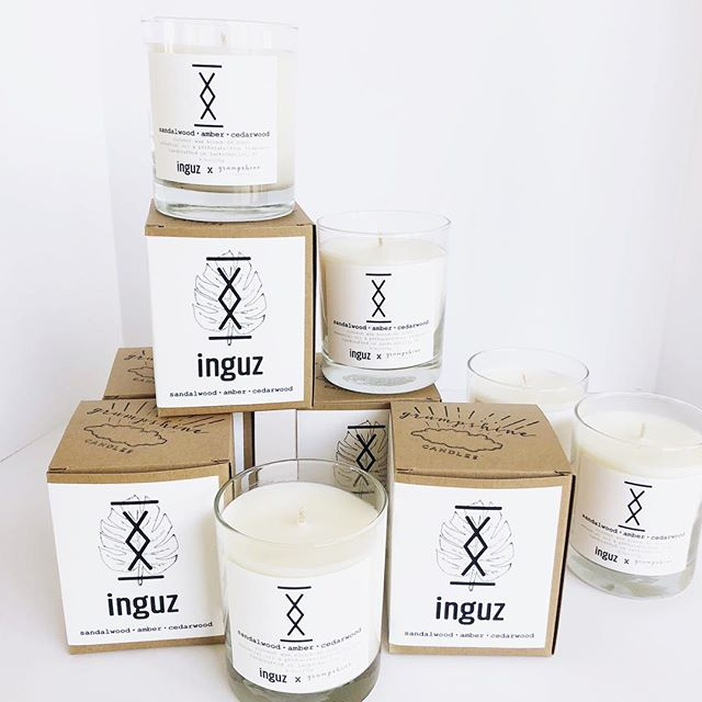 We are so proud and happy to have been able to work with the amazing owners of @__inguz to create their own custom candle! It's an incredible scent with sandalwood, amber and cedarwood and has that incredible minimalist scent and design that their brand embodies so beautifully. Such a a wonderful Jax collaboration 🙌🏻 Pick up one for yourself or as a gift at their shop ASAP! #shopinguz #collab #shoplocaljax #904 #igersjaxbeach #boldcity #coconutwaxcandles #handcrafted #jaxcreatives