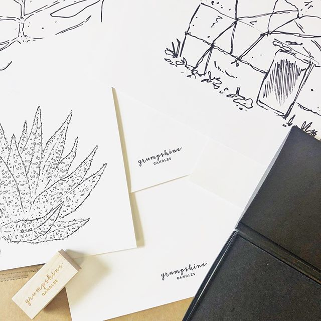 Spending some time hand-stamping the backs of our 8x10 and 11x14 art prints.  Yurt or succulent, anyone? For sale tomorrow at @moxiecraftfest ❤️ #artprints #handdrawn #904 #igersjax #igersjaxbeach #ethicalcandles #madeinjax #jaxcreatives #babeswhohustle #jaxgirlgang #handcrafted #moxiecraftfest #blackandwhiteart