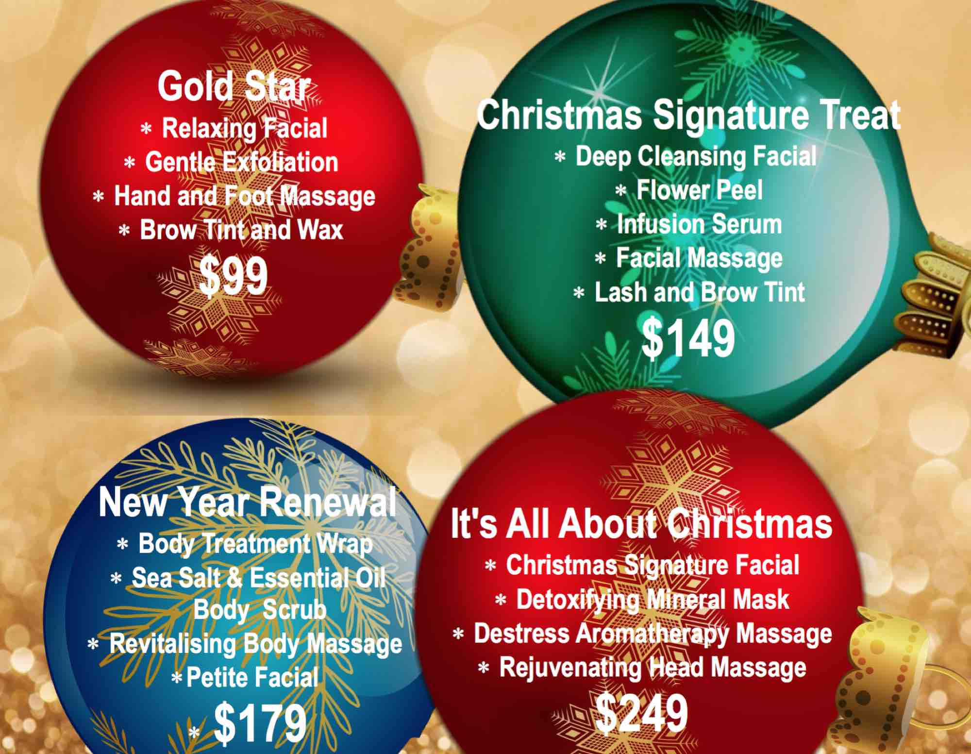 Christmas Beauty Salon.Beauty Christmas Packages Sphere Medi Spa
