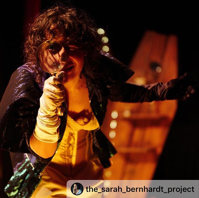 "#Repost @the_sarah_bernhardt_project ・・・ ""I have a thing for that napoleonic look...you and those eyes."" -LA FIN: The Last Hour of Sarah Bernhardt's. Sarah likes to inspect and reflect on all her species of lovers. #premiere #sarahbernhardt #investigstion #magnifyingglass #introspection #men #biology🔬 #theatre #quandmeme #lafin #lafinsarahb #comedienne #francaise LINK IN BIO to support advancement and making this project ready to travel. Help get us to $3K today. MERCI. #merci 📷 @grobovnikov"