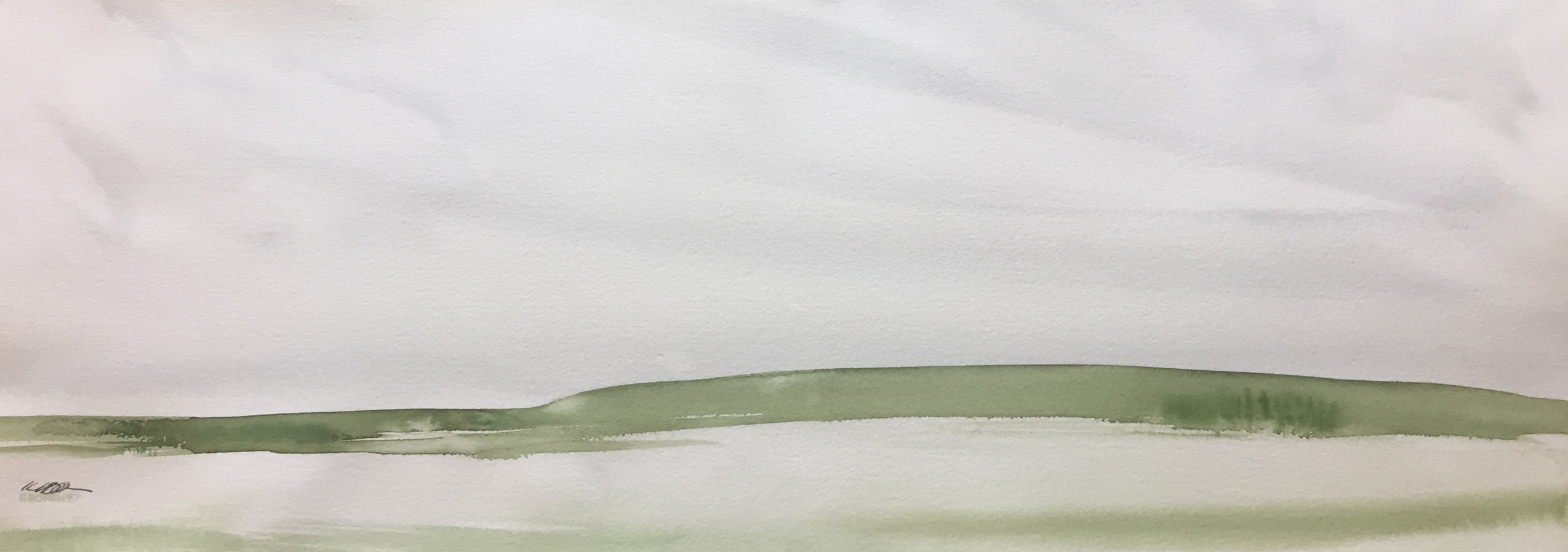"distant thicket   30"" x 11""   original $1250   archival print $295"