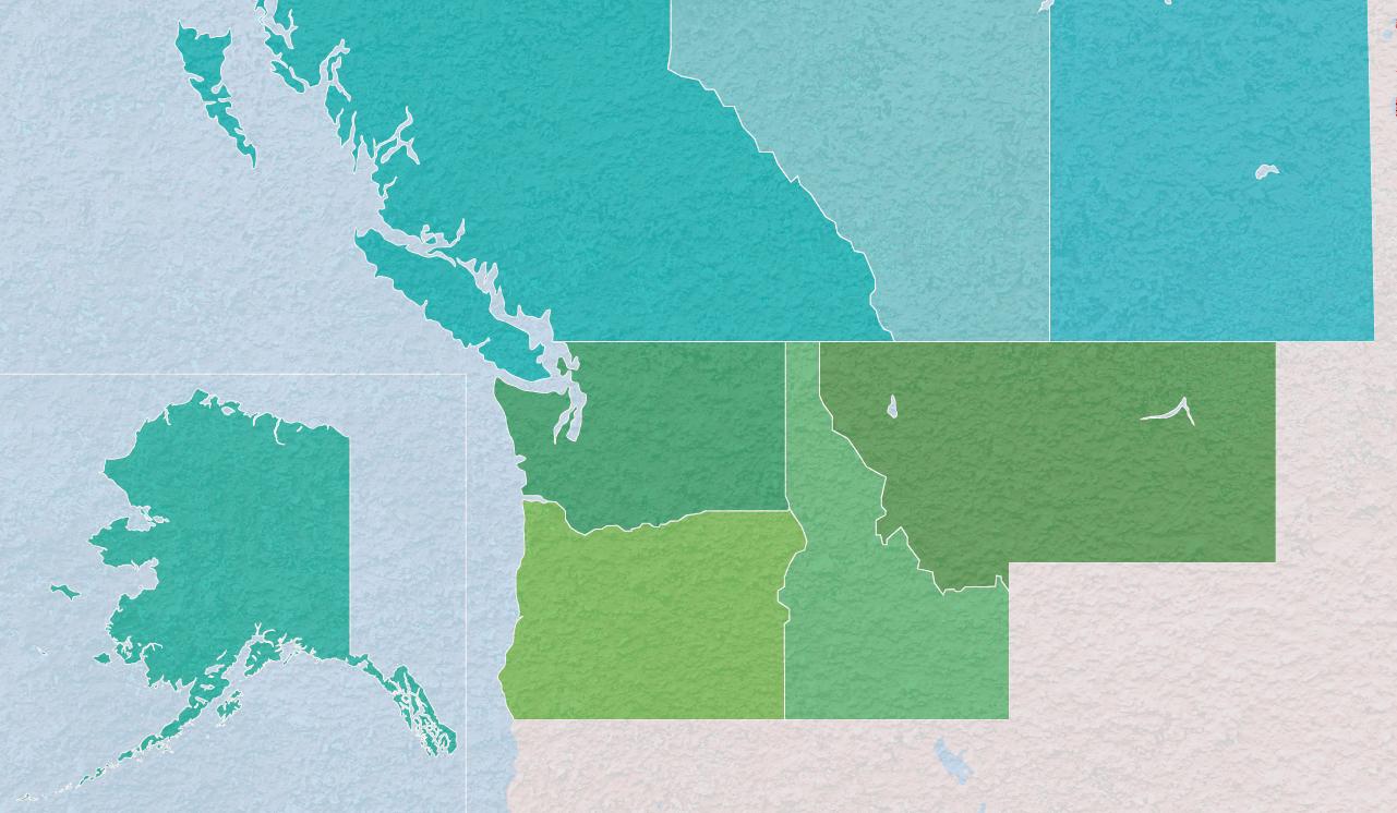 Serving - Washington, Oregon, Idaho, Montana, Alaska, and Western Canada