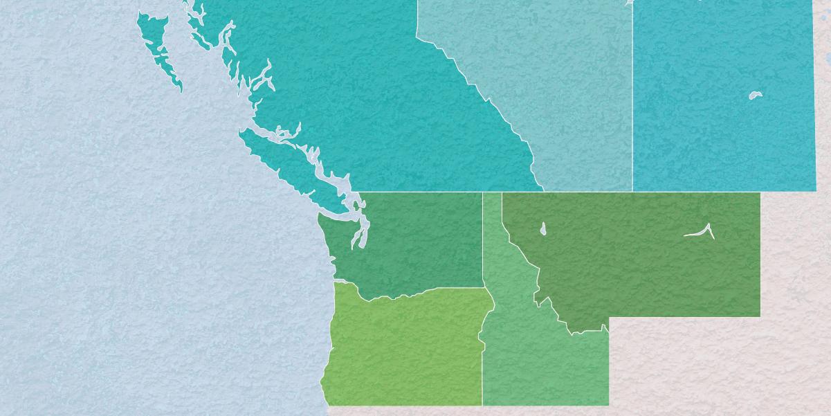 Serving - Washington, Oregon, Idaho, Montana, Saskatchewan, Alberta, and British Columbia