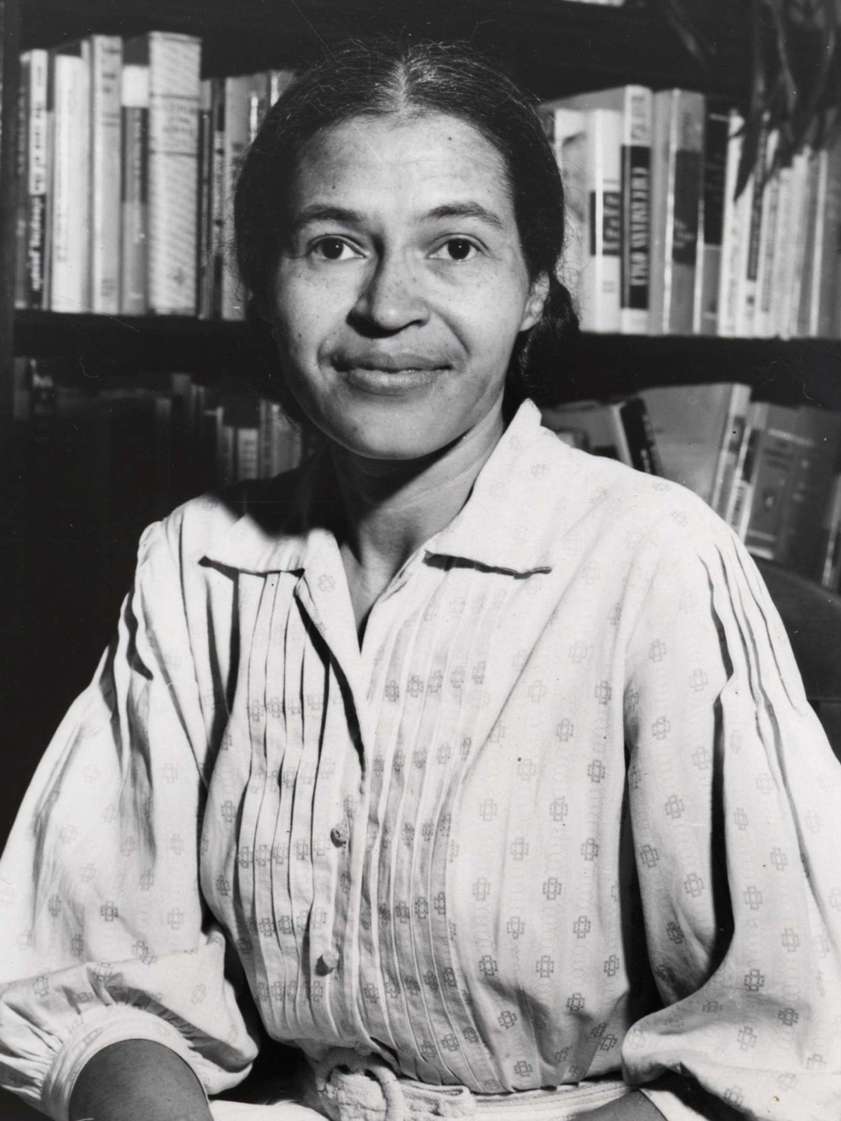 ROSA PARKS - On December 1, 1955, Rosa Parks found herself in Montgomery, Alabama, being asked to give up her seat and move to the back of the bus. In an effort to stand up for herself and the worth she believed she carried, she refused to move. She was arrested that day, and as a result, set a spark amongst the African American community that led them to protest all the way to the Supreme Court. As a result of her courage and the many that came after her,bus segregation ended and many were empowered to fight for equal rights amongst all American citizens. Rosa Parks went on to write a biography that was published in 1992, and has inspired many to stand up for what they believe in.