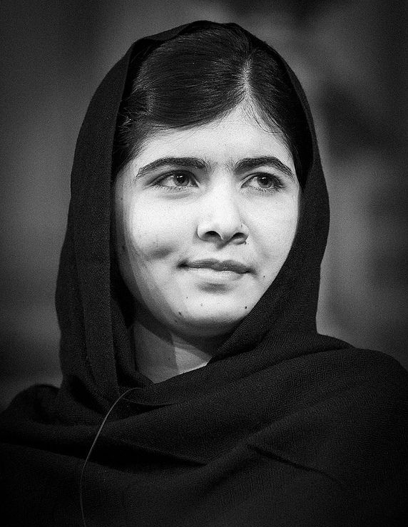 MALALA YOUSAFZAI - In 2012, Malala Yousafzai was living in Northern Pakistan at age 15. One day on her way home from school, Malala was targeted and shot in the head by the Taliban for voicing her belief that girls' deserved an education. Today, she has fully recovered and is using her story to fight for education rights for girls all over the world. She is the youngest-ever Noble Peace Prize winner, works heavily with international leaders as an advocate for education and is about to begin school at Oxford. Even in her youth, Malala knows what she believes and trusts that her small voice is powerful enough to make a difference.