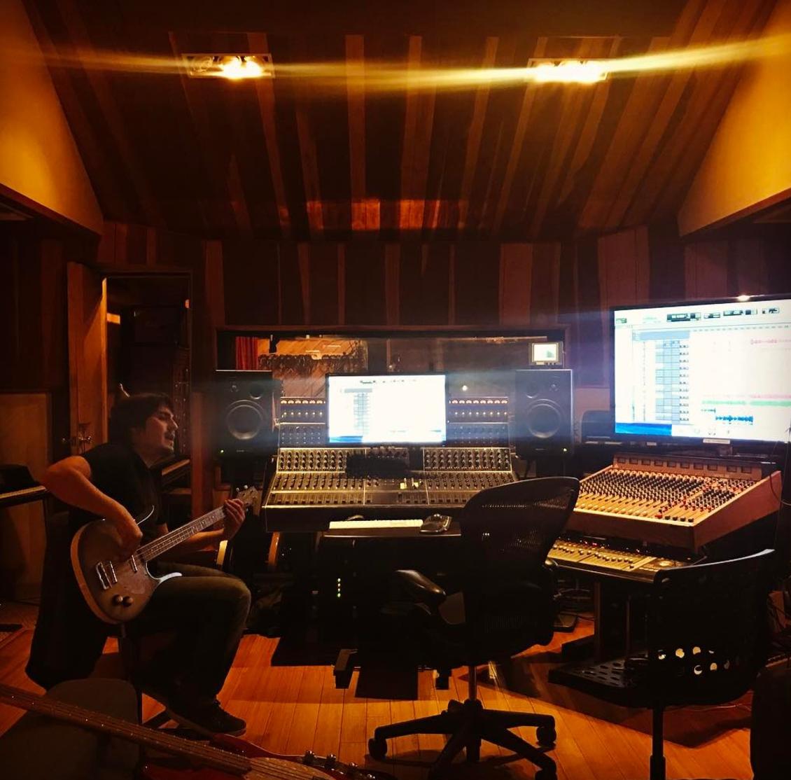 Studio time in Los Angeles, California