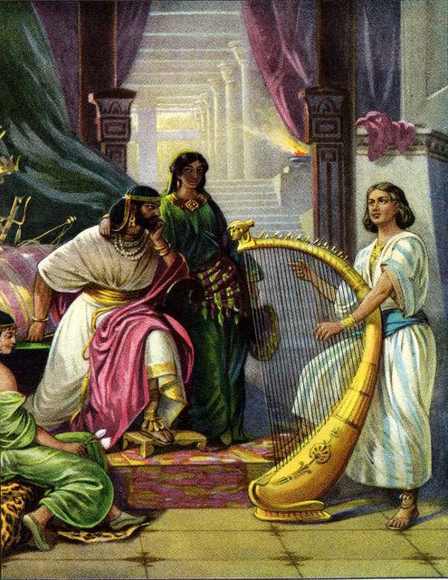 Depiction of Samuel 16:23. Picture provided by Google Images.