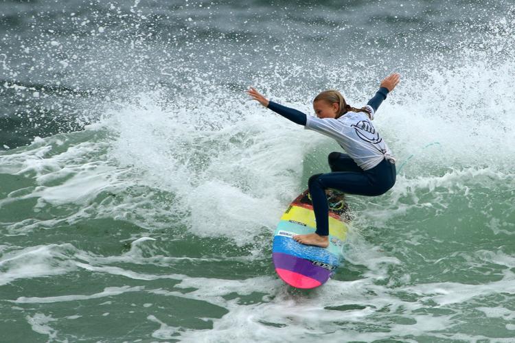 Keira Buckpitt from Culburra. Photo credit: Ethan Smith/Surfing NSW