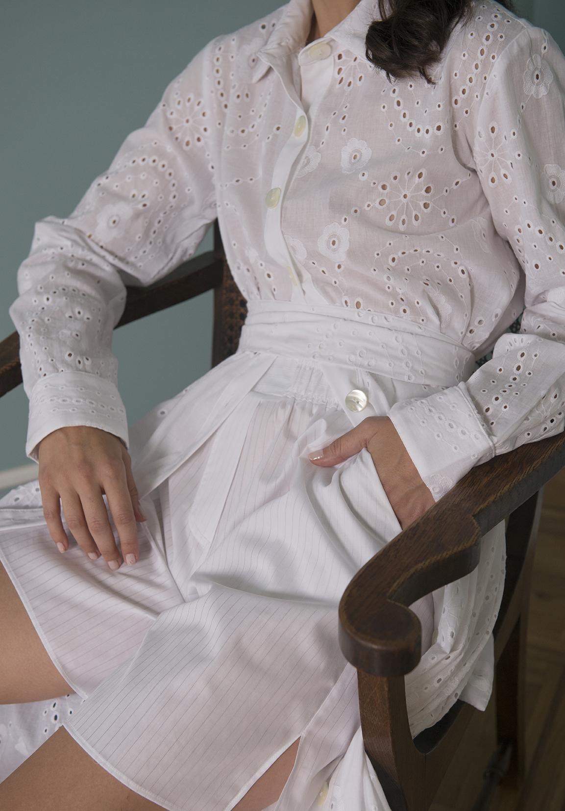 Valerie Long Broderie & Shorts -