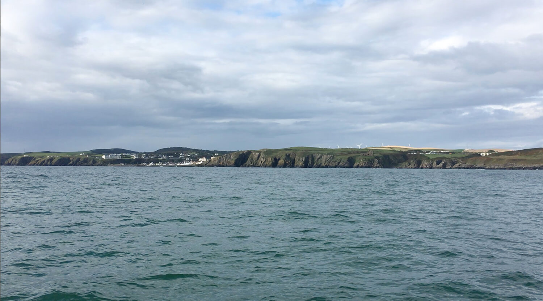 Portpatrick Scotland in the distance