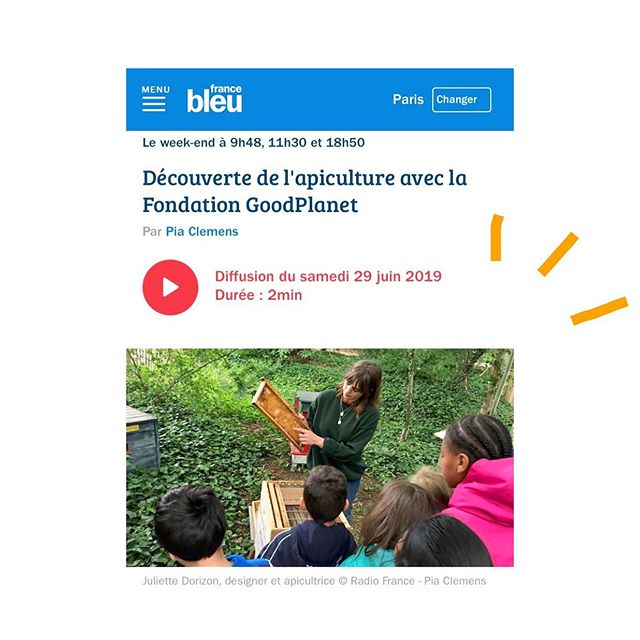 Lien dans ma bio 🎧👆🏽!! L'un de mes groupes d'élèves de primaires au 🎤 de @piapiaclemens pour @francebleuparis raconte l'atelier autour de l'importance des 🐝 que je donne à la @fondationgoodplanet 👋🏽 @cheptel_ruches @mugopaysage @labeilledelafondation . . . . . . . . . #ruche #beehive #bees #abeilles #rucheeustache #eustache #🏰#apiculture #🐝 #beekeeping #urbanbeekeeping #apicultureurbaine #rucher #miel #honeycomb #honey #🍯 #design #designer #productdesign #🔨 #🔧 #pollinisateurs #fondationgoodplanet #workshop #atelier #pedagogique #pedagogie