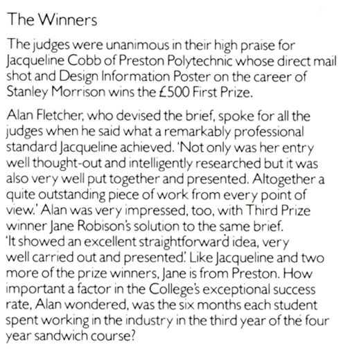 What the judges thought of the winners work.