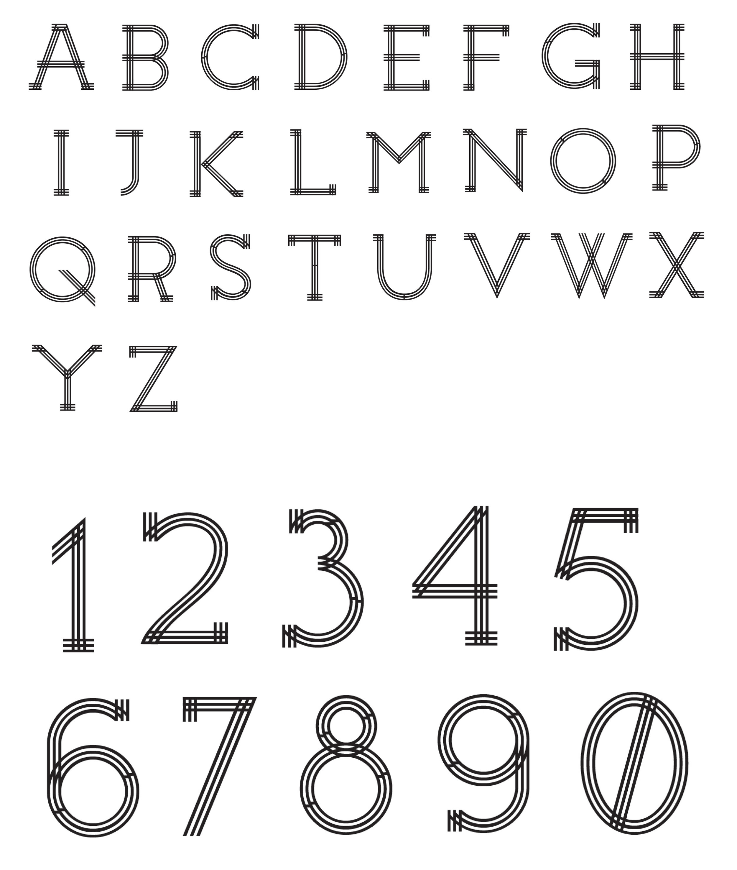Jim, Year 3 - Branding typeface draft