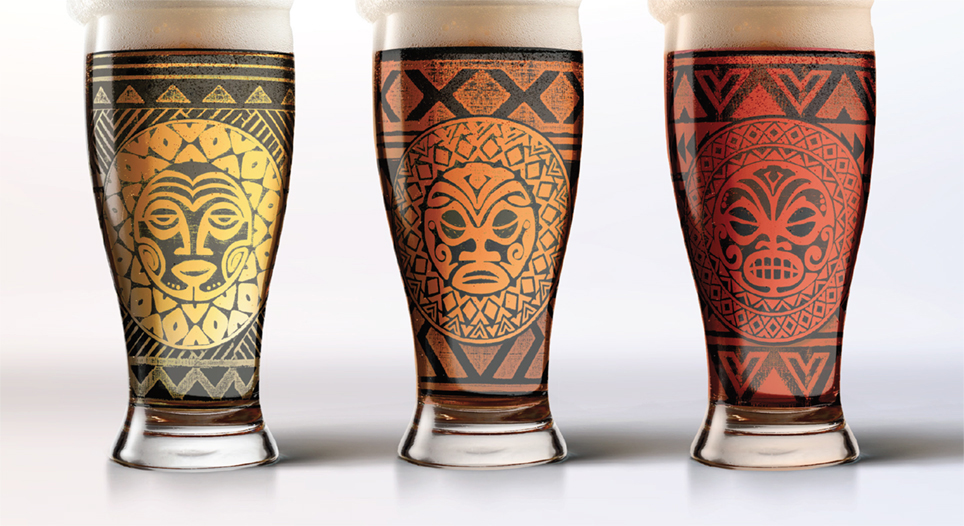 Etched glass designs