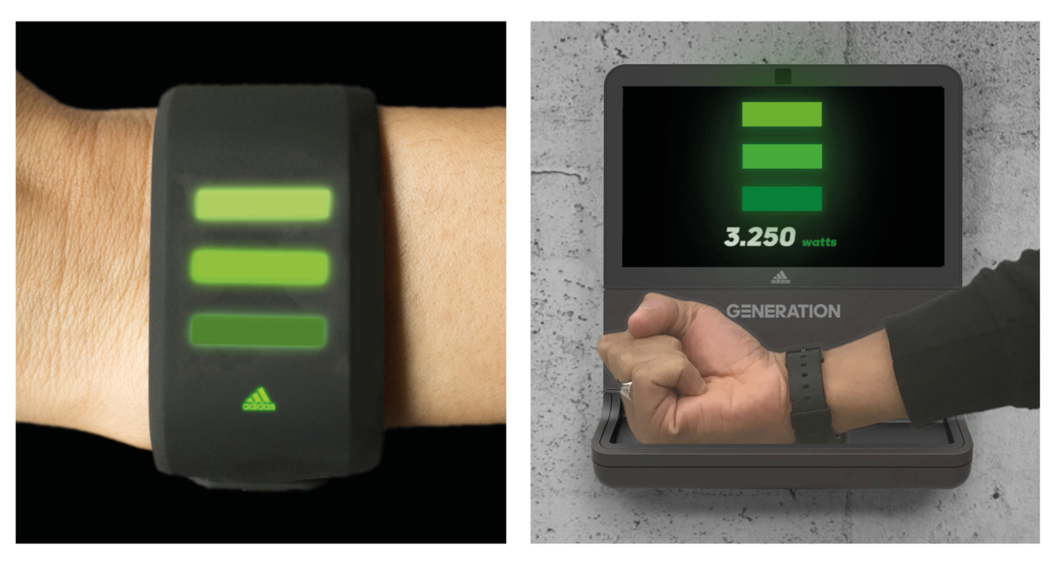 Energy storing wristband concept
