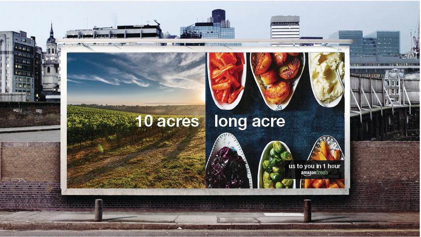 Traditional billboard advertisement