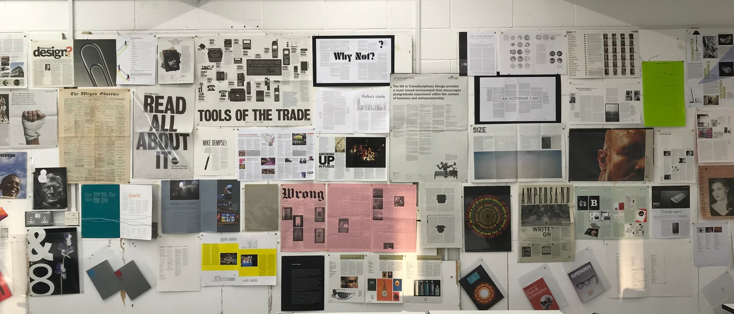 A wall of inspiration