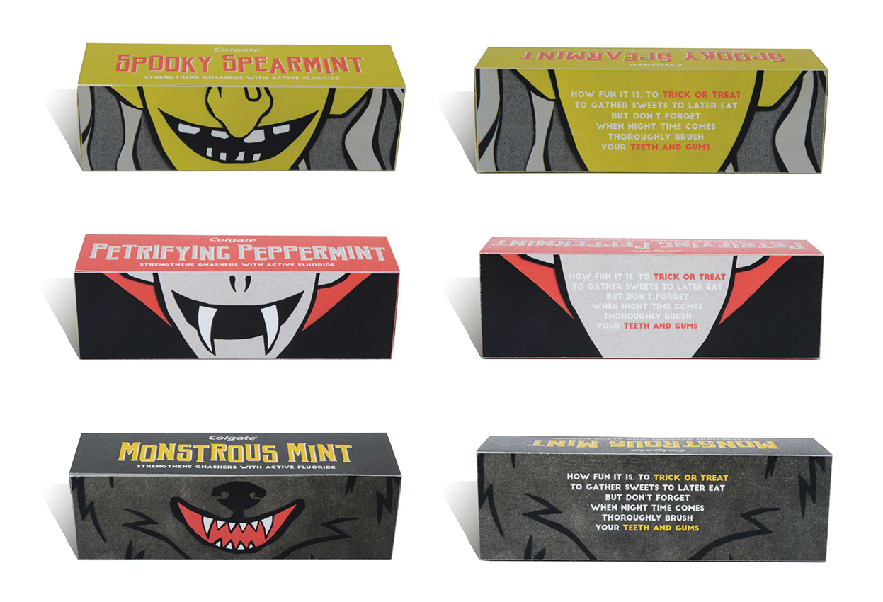 Each pack has a short, fun poem on the reverse highlighting the importance of brushing your teeth.