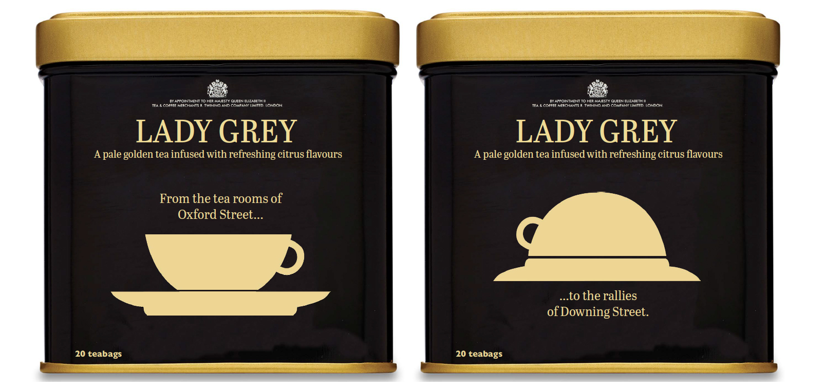 Front & Back of the tin packaging