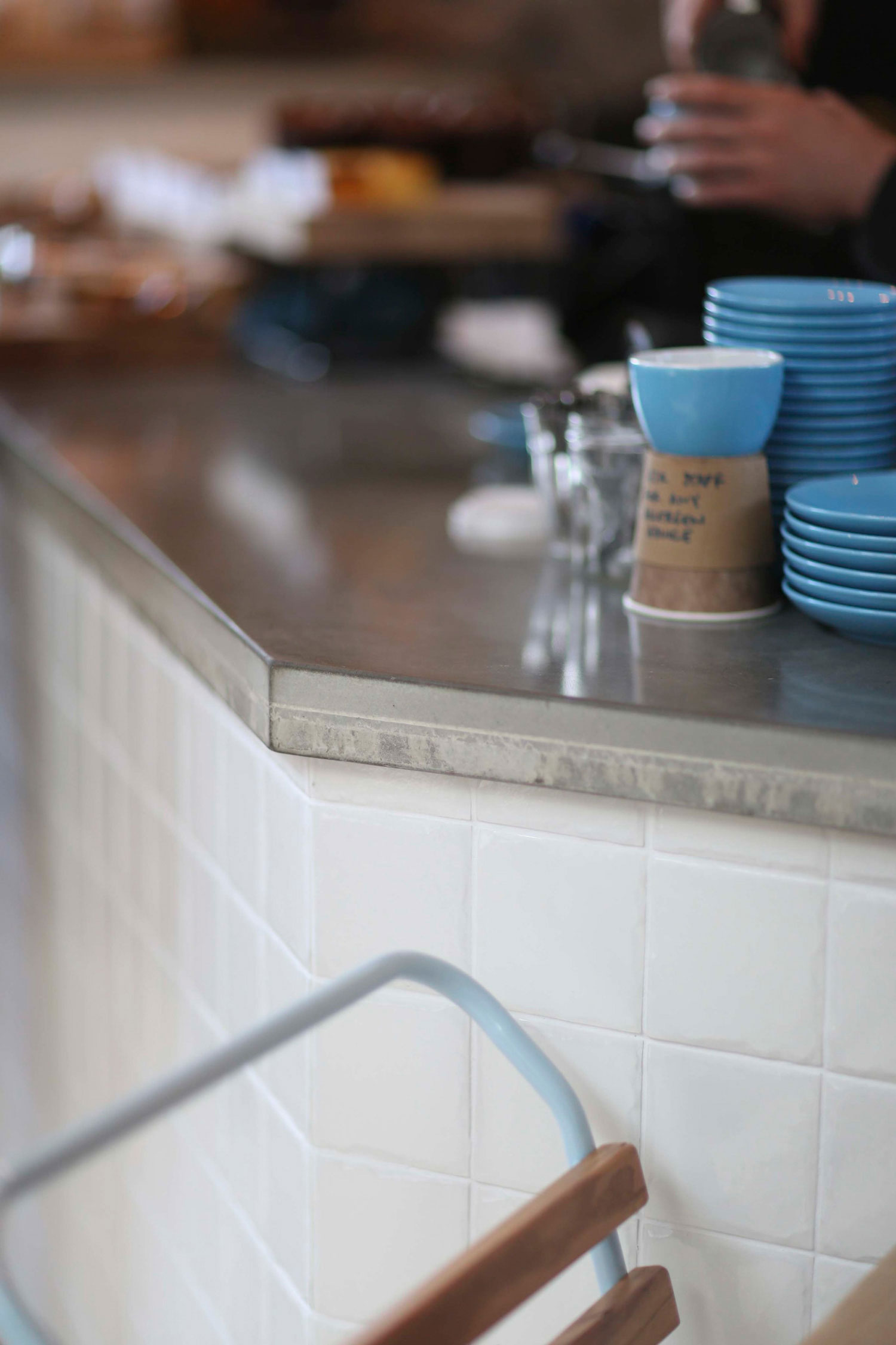 Cast and polished concrete worktops, Little Victories, Tinney and Co