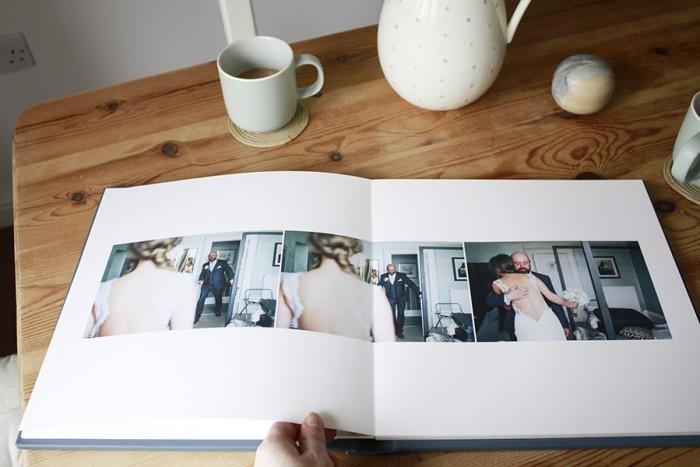 Coffee table wedding album