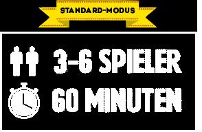 Standard-Spiel:   3 Personen CHF 40.00 p.P. 4 Personen CHF 36.00 p.P. 5 Personen CHF 32.00 p.P. 6 Personen CHF 30.00 p.P.  (Preise inkl. Mehrwertsteuer)